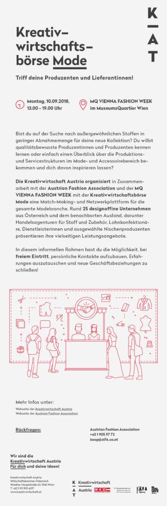 Kreativwirtschaftsbörse Vienna Fashion Week
